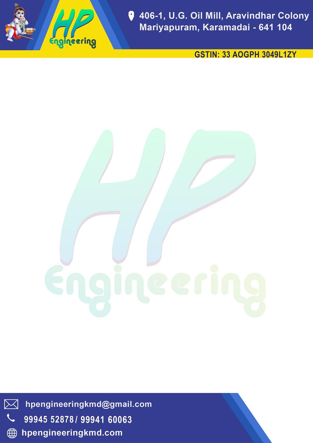 HP engineering Letter head
